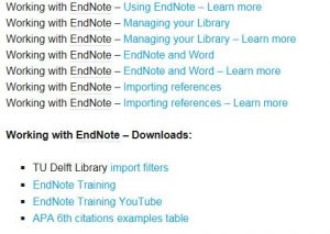 Image of working with EndNote